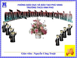 PH ÒNG GIÁO DỤC VÀ ĐÀO TẠO PHÚ VANG            TRƯỜNG THCS VINH PHÚ