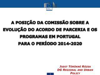Judit Törökné Rózsa DG  Regional  and Urban Policy