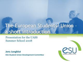 The European Students' Union – a short introduction
