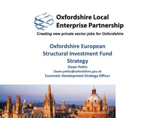 Oxfordshire European Structural Investment Fund Strategy Dawn Pettis