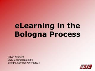 eLearning in the Bologna Process
