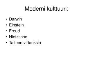 Moderni kulttuuri: