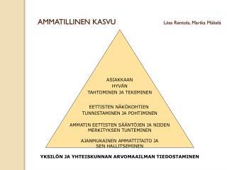 AMMATILLINEN KASVU                        Liisa Rentola, Marika Mäkelä