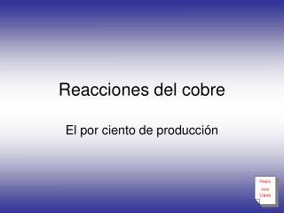 Reacciones del cobre