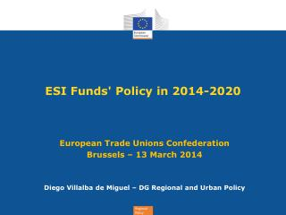 ESI Funds' Policy in 2014-2020