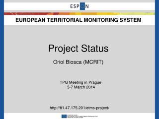 EUROPEAN TERRITORIAL MONITORING SYSTEM