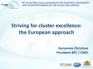 Striving for cluster excellence: the European approach