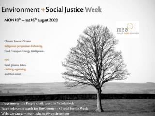 Environment  +  Social Justice  Week