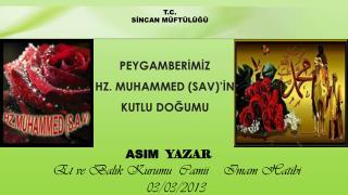 ASIM   YAZAR Et ve Balık Kurumu  Camii    Imam Hatibi  03/03/2013