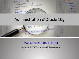 Administration d'Oracle 10g