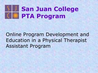 San Juan College PTA Program