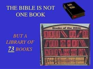 THE BIBLE IS NOT ONE BOOK