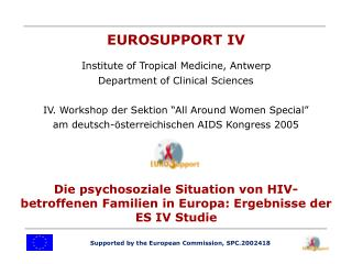 Supported by the European Commission, SPC.2002418