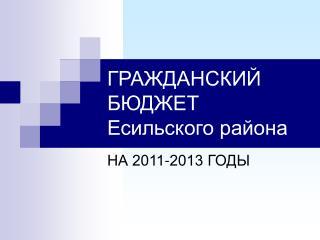 ГРАЖДАНСКИЙ БЮДЖЕТ Есильского района