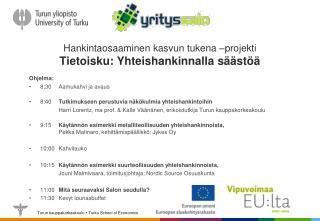 Hankintaosaaminen kasvun tukena –projekti Tietoisku: Yhteishankinnalla säästöä