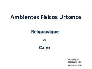 Ambientes Físicos Urbanos