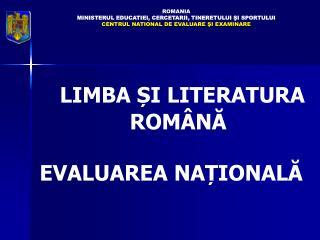 ROMA NIA MINISTERUL  EDUCAT IEI, CERCETARII, TINERETULUI ŞI SPORTULUI