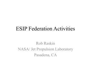 ESIP Federation Activities
