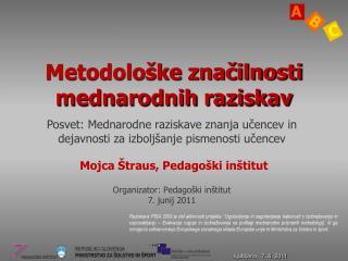 Metodološke značilnosti mednarodnih raziskav