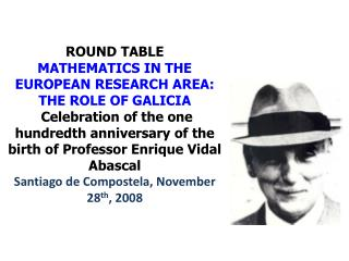 STRUCTURE OF THE ROUND TABLE Introduction by Luis A. Cordero