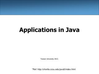 Applications in Java