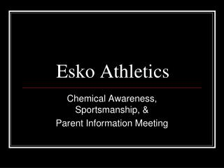 Esko Athletics