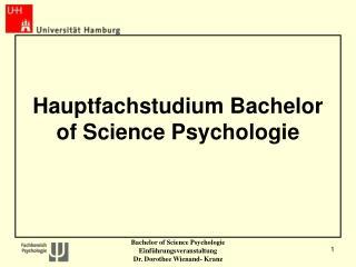 Hauptfachstudium Bachelor of Science Psychologie