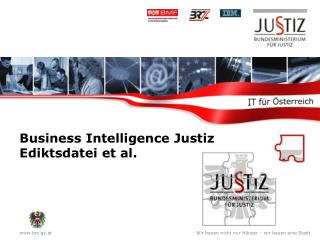 Business Intelligence Justiz Ediktsdatei et al.