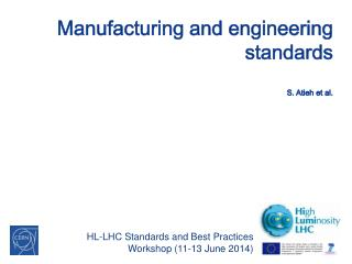 Manufacturing and  engineering standards S.  Atieh  et al.