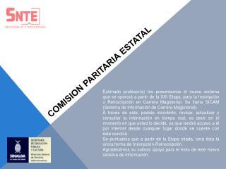 COMISION PARITARIA ESTATAL