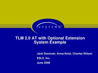 TLM 2.0 AT with Optional Extension System Example
