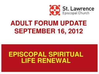 EPISCOPAL SPIRITUAL LIFE RENEWAL