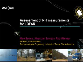 Assessment of RFI measurements  for LOFAR