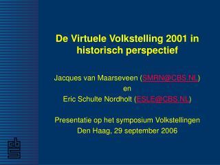 De Virtuele Volkstelling 2001 in historisch perspectief
