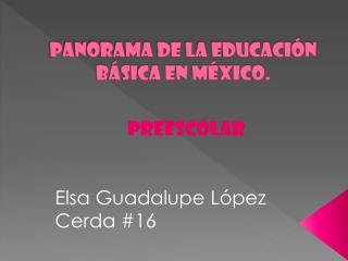 Panorama de la educación básica en México.
