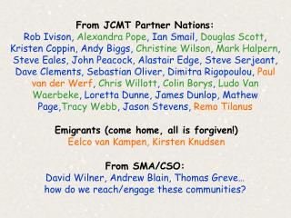 From JCMT Partner Nations: