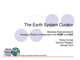 The Earth System Curator
