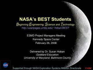 ESMD Project Managers Meeting Kennedy Space Center February 26, 2008