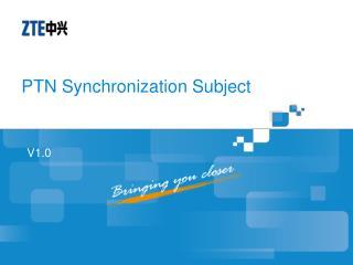 PTN Synchronization Subject