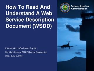 How To Read And Understand A Web Service Description Document (WSDD)