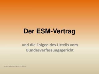 Der ESM-Vertrag