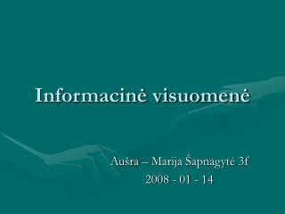 Informacinė visuomenė
