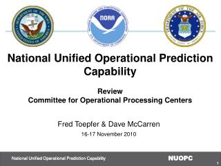 National Unified Operational Prediction Capability Review