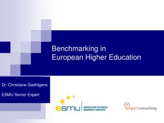 Benchmarking in  European Higher Education