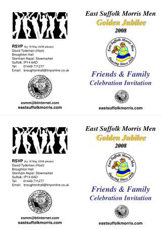 East Suffolk Morris Men Golden Jubilee 2008