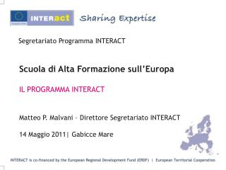Segretariato Programma INTERACT
