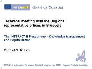 Technical meeting with the Regional representative offices in Brussels