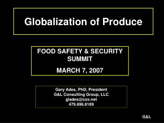 Globalization of Produce