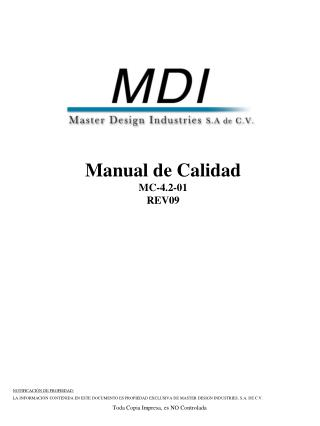 Manual de Calidad MC-4.2-01 REV09