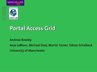 Portal Access Grid